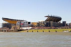 Heinz Field Across the River - Close-up View of Pittsburghs Hein